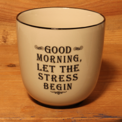 Becher: Good morning, let the stress begin