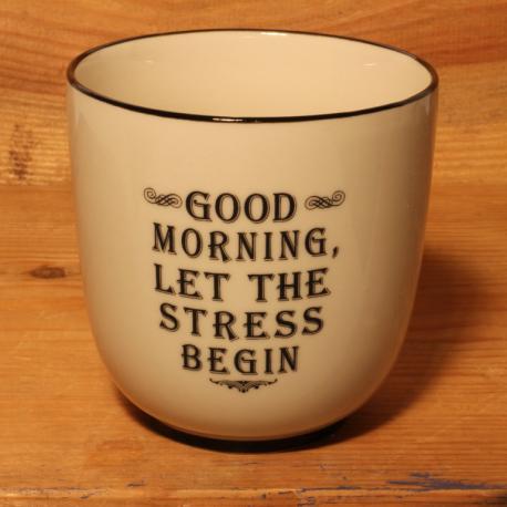 Becher: Good morning, let the stress begin
