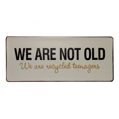 Blechchild: We are not old - we are recycled teenagers
