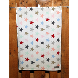 "Küchentuch ""Big Star Multicolour White"""