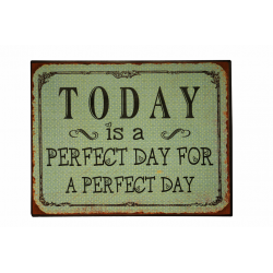 Blechschild: Today is a perfect day for a perfect day