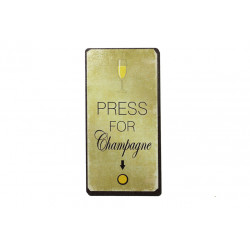 Magnet: Press for champagne