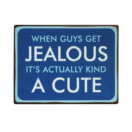 Blechschild: When guys get jealous it's actually kind a cute