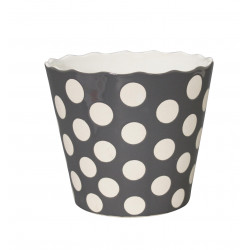 "Schüssel ""Large Happy Bowl Charcoal With Dots"""