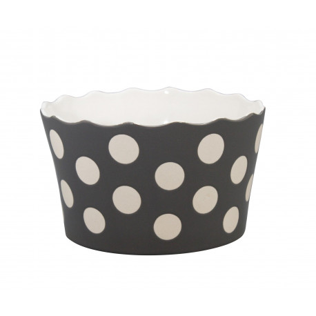 "Schüssel ""Medium Happy Bowl Charcoal With Dots"""