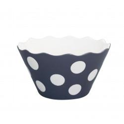"""Schüssel """"Micro Happy Bowl Charcoal With Dots"""" von Krasilnikoff"""
