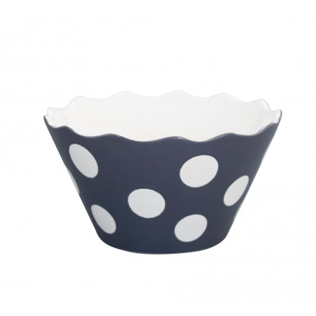 "Schüssel ""Micro Happy Bowl Charcoal With Dots"" von Krasilnikoff"