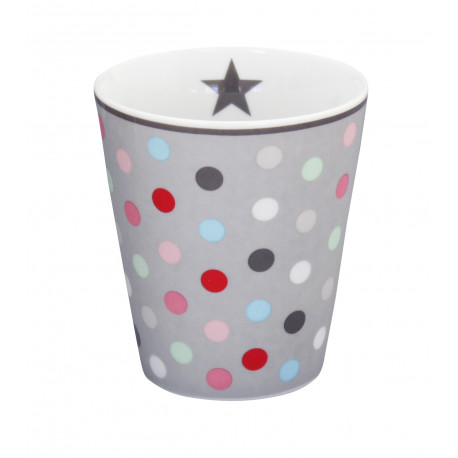 Becher: Multi Dot Grey