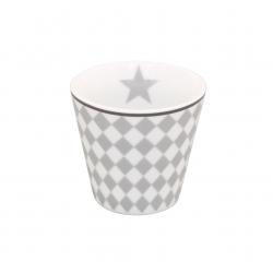 "Espressobecher: ""Light Grey Harlekin"""
