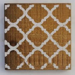 Untersetzer Holz mit Kachelmuster