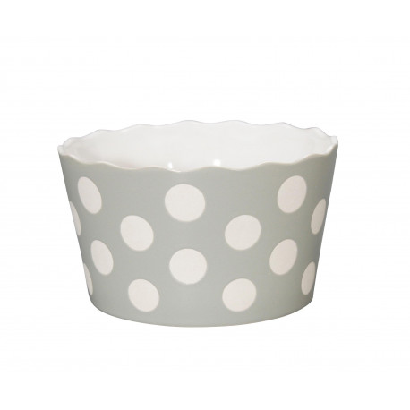 "Schüssel ""Medium Happy Bowl Light Grey With Dots"""