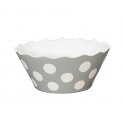 "Schüssel ""Small Happy Bowl Light Grey With Dots"" von Krasilnikoff"
