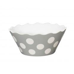 """Schüssel """"Small Happy Bowl Light Grey With Dots"""" von Krasilnikoff"""