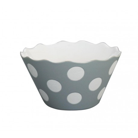 "Schüssel ""Micro Happy Bowl Light Grey With Dots"" von Krasilnikoff"