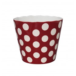 "Schüssel ""Large Happy Bowl Red With Dots"""