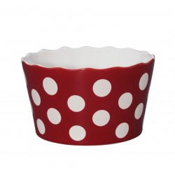 "Schüssel ""Medium Happy Bowl Red With Dots"""