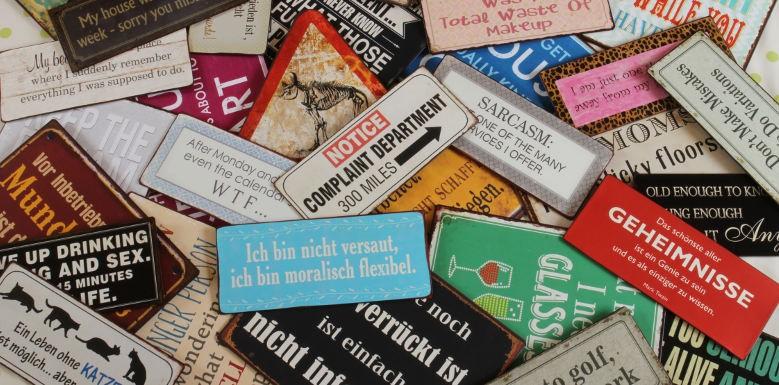Wohnen & Dekorieren - Schilder